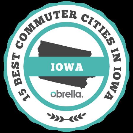 Best Commuter Cities in Iowa Badge