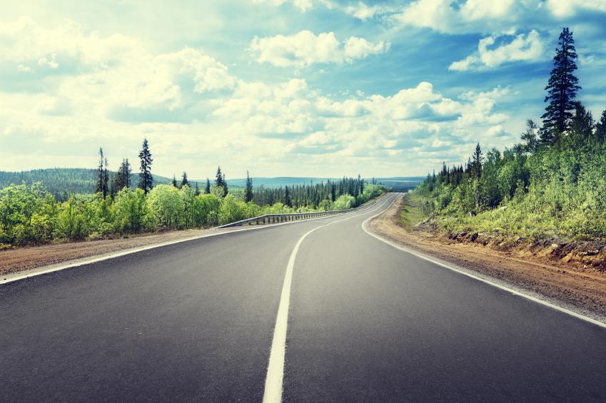 Open Mountain road
